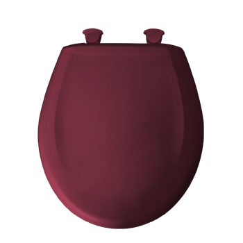 Bemis 200SLOWT.313 Round Closed Front Toilet Seat with Cover - Ruby