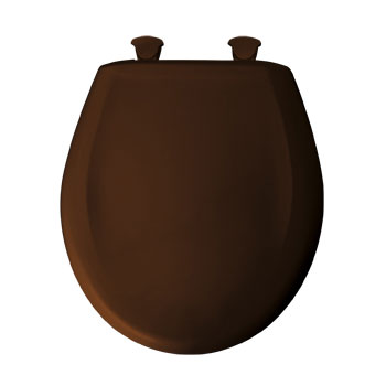 Bemis 200SLOWT.348 Round Closed Front Toilet Seat with Cover - Swiss Chocolate
