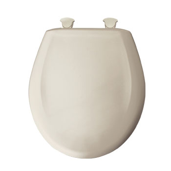 Bemis 200SLOWT.376 Round Closed Front Toilet Seat with Cover - Warm White