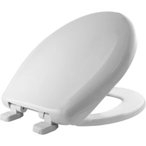 Bemis 200TCA.000 Round Closed Front Traditional Hinges Plastic Toilet Seat - White