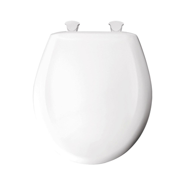 Church 300SLOW-000 Round Slow Close Plastic Toilet Seat - White