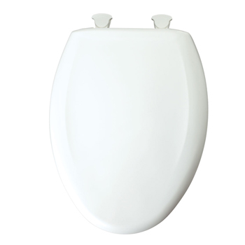 Church 380SLOW-000 Elongated Slow Close Plastic Toilet Seat - White
