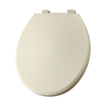 Church 800EC.346 Round Closed-Front Toilet Seat with Cover - Biscuit