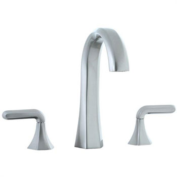 Cifial 201.150.620 Hexa 3-Hole Hi-Arch Widespread Lavatory Faucet with Lever Handles - Satin Nickel