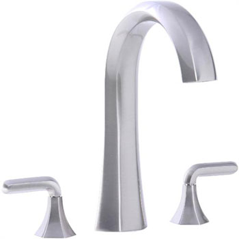 Cifial 201.650.620 Hexa Roman Tub Filler Trim with Lever Handles - Satin Nickel
