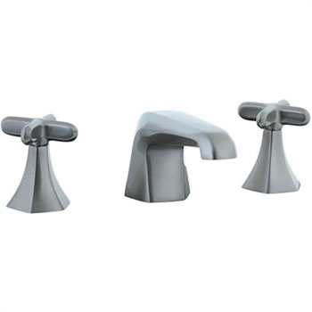 Cifial 202.110.620 Hexa 3-Hole Widespread Lavatory Faucet with Cross Handles - Satin Nickel