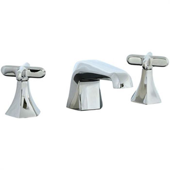 Cifial 202.110.721 Hexa 3-Hole Widespread Lavatory Faucet with Cross Handles - Polished Nickel