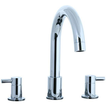 Cifial 221.640.625 Techno 3-pc Roman Tub Faucet with Lever Handle - Chrome