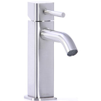 Cifial 224.100.620 Quadra 25 Single Handle Low Profile Lavatory Faucet - Satin Nickel