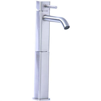 Cifial 224.101.620 Quadra 25 Single Handle High Profile Lavatory Faucet - Satin Nickel