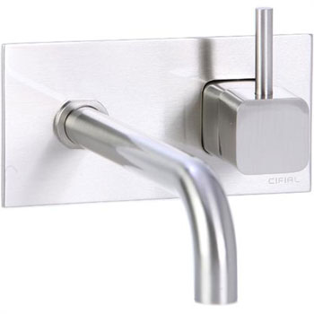 Cifial 224.152.620 Quadra 25 Single Handle Wall Mount Lavatory Faucet - Satin Nickel