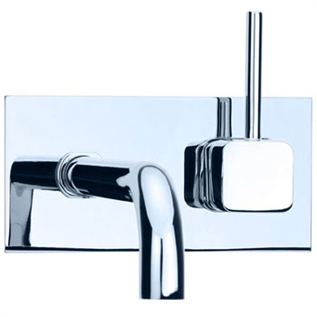 Cifial 224.152.625 Quadra 25 Single Handle Wall Mount Lavatory Faucet - Chrome
