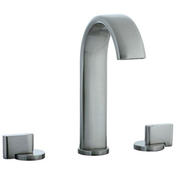 Cifial 231.150.620 Techno M3 3-Hole Hi-Arch Widespread Lavatory Faucet with Clic Clac Drain - Satin Nickel