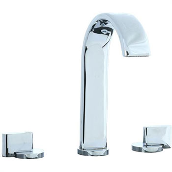 Cifial 231.150.625 Techno M3 3-Hole Hi-Arch Widespread Lavatory Faucet with Clic Clac Drain - Chrome