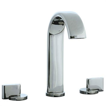 Cifial 231.150.721 Techno M3 3-Hole Hi-Arch Widespread Lavatory Faucet with Clic Clac Drain - Polished Nickel