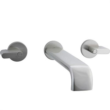 Cifial 231.156.620 Techno M3 Wall Mount Lavatory Faucet - Satin Nickel