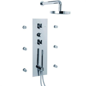 Cifial 231.500.625 Techno M3 Shower System - Chrome