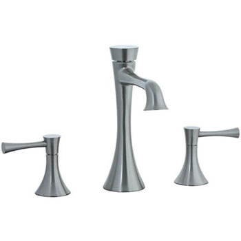 Cifial 245.130.620 Brookhaven L-Spout 3-HoleWidespread Lavatory Faucet - Satin Nickel
