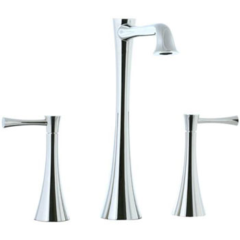 Cifial 245.180.721 Brookhaven L-Spout Widespread Vessel Faucets - Polished Nickel
