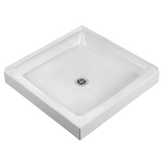 Crane Plumbing 34WLD-WH Cascade Shower Floor - White