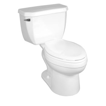 Crane 38345.100 EcoMiser BigFoot Elongated Dual Flush Toilet - White