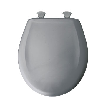 Bemis 200SLOWT.032 Round Closed Front Toilet Seat with Cover - Country Grey