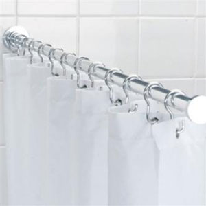 Croydex AD117041YW Luxury Spigot Shower Rod - Chrome
