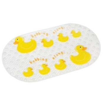 Croydex AH220515YW Rubber Ducky Bath & Shower Mat - White & Yellow