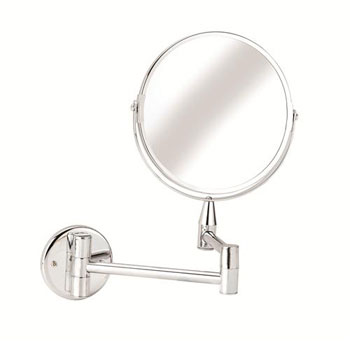 Croydex QA103041YW Small Round Magnifying Mirror - Chrome