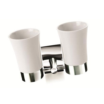 Croydex QB551843YW Kensington Double Tumbler & Holder - Chrome