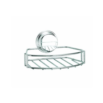 Croydex QM373841YW Twist N Lock Plus Soap Basket - Chrome