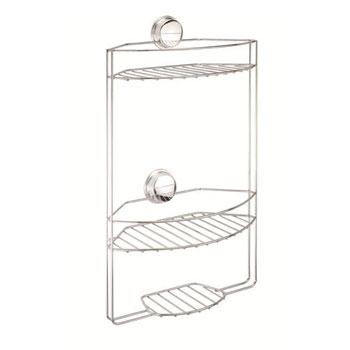 Croydex QM374341YW Twist N Lock Plus 3 Tier Basket - Chrome