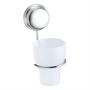 Croydex QM381841YW Stick 'N' Lock Tumbler & Holder - Chrome
