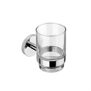 Croydex QM411841YW Pendle Flexi Fix Tumbler and Holder - Chrome
