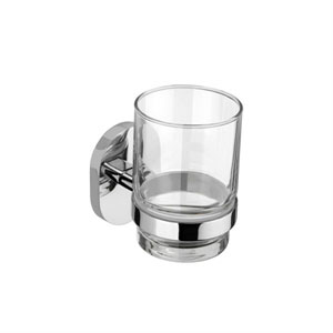 Croydex QM451841YW Esher Flexi Fix Tumbler and Holder - Chrome
