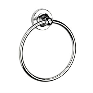 Croydex QM461541YW Worcester Flexi Fix Towel Ring - Chrome
