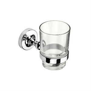 Croydex QM461841YW Worcester Flexi Fix Tumbler and Holder - Chrome