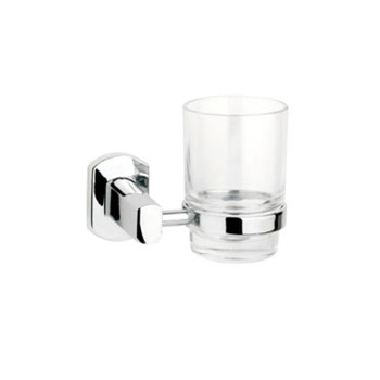 Croydex QM621841YWB Chelsea Tumbler & Holder - Chrome