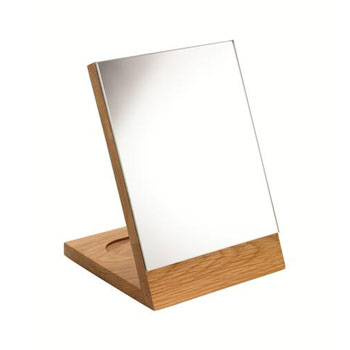 Croydex WA681076YW Kingston Free Standing Mirror - Oak