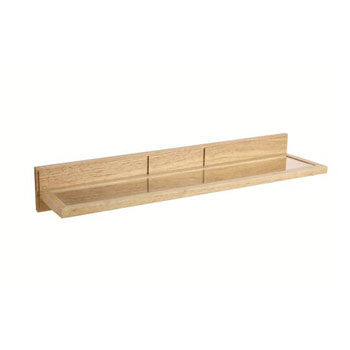Croydex WA971476YW Maine Shelf - Natural Wood