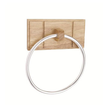 Croydex WA971576YW Maine Towel Ring Wood - Natural Wood
