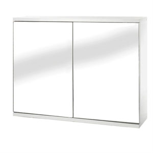 Croydex WC257022YW Simplicity Self Assembly Double Door Cabinet - White