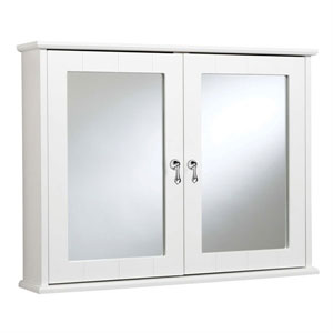 Croydex WC430822YW Ribble Double Door Cabinet - White
