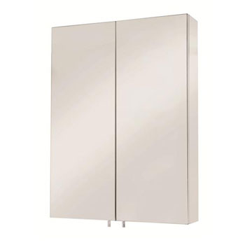 Croydex WC756105 Anton Double Door Medicine Cabinet - Stainless Steel