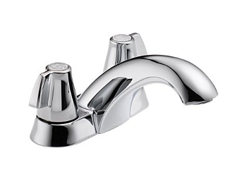 Delta 2500LF Classic Two Handle Centerset Lavatory Faucet - Chrome