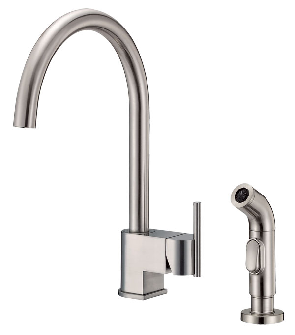 Danze D404444SS Como Single Handle Kitchen Faucet with Side Spray - Stainless Steel