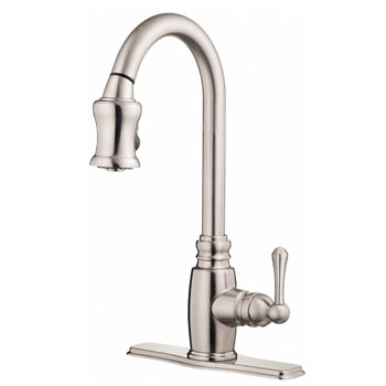 danze d454557ss opulence single handle pull-down kitchen faucet