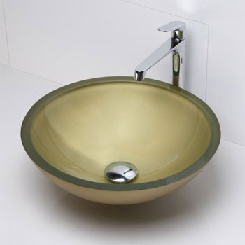 Decolav 1019T-PCO Round 19mm Glass Vessel Sink - Painted Copper