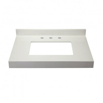 Decolav 1662-QWH Cameron Quartz Countertop - White Quartz