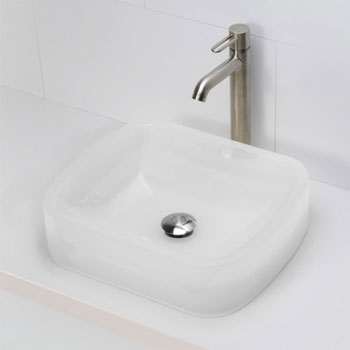 Decolav 2802-MST Rectangular Above Counter Resin Lavatory - Mist
